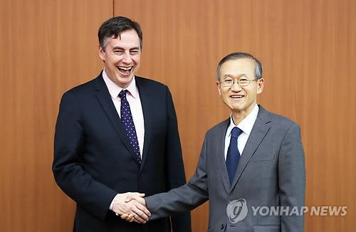 YONHAPNEWS: Senior member of EU parliament vows support for Korean denuclearization, unification
