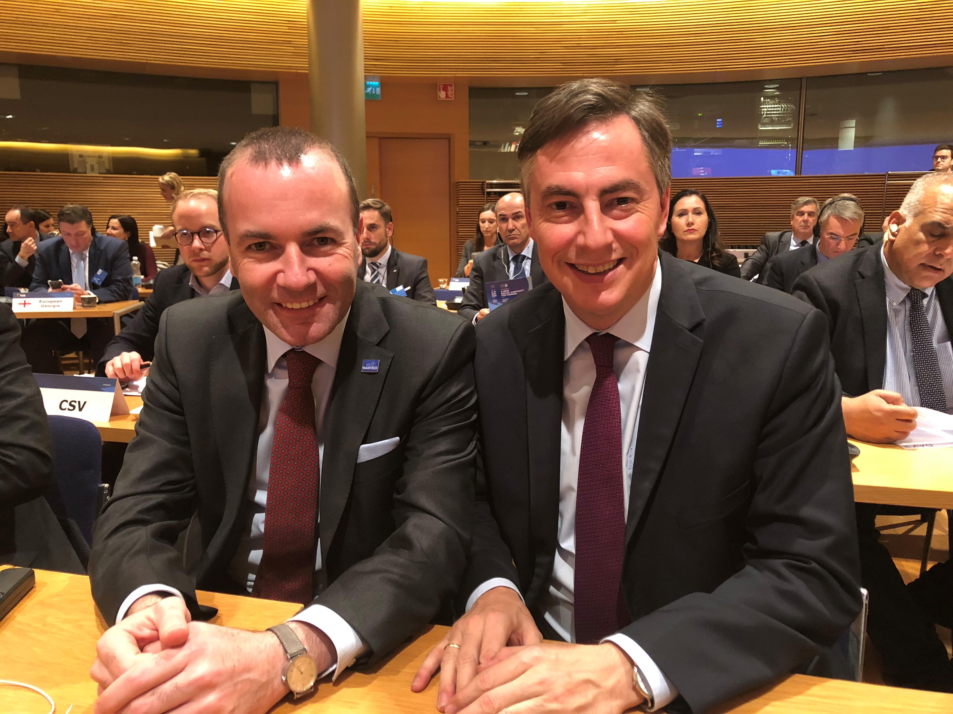 Presseinformation 08.11.2018: David McAllister begrüßt die Wahl von Manfred Weber zum Spitzenkandidaten der Europäischen Volkspartei