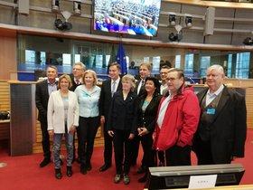 Oberbürgermeister Krogmann und Ratsdelegation besuchen Kohlkönig McAllister in Brüssel